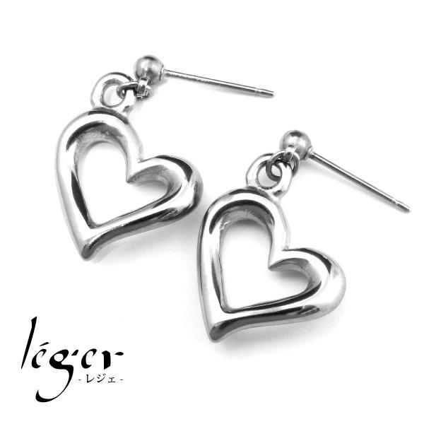 【送料無料】『Leger』オープンハートピアス/ピュアチタンアクセサリー/ピアス/純チタン/アレルギーフリー/レジェ/レディース/ギフト