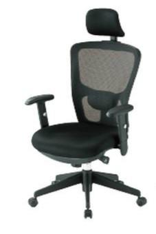 【送料無料】オフィスチェア・メッシュチェアオフィス家具 チェア/椅子肘付き・ヘッドレスト付きブラック (FCM-5Aシリーズ)【背部メッシュ仕様】※お客様組立品
