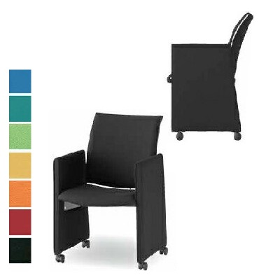 【送料無料】【4脚セット】ミーティングチェア パネル脚(FMPシリーズ・FMP-KP4)【布製・カラー選べます】オフィス家具 会議 チェア/椅子