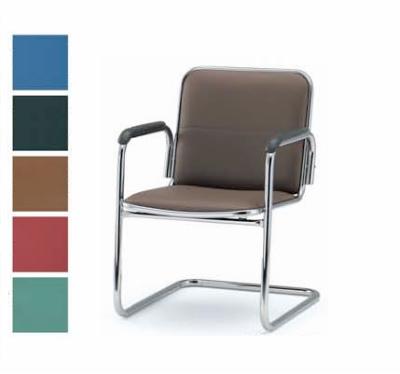 【送料無料】【4脚セット】ミーティングチェア・C脚タイプ・肘付きオフィス家具 会議 チェア/椅子(FSBシリーズ・FSB-2AL)【ビニールレザー制・カラー選べます】