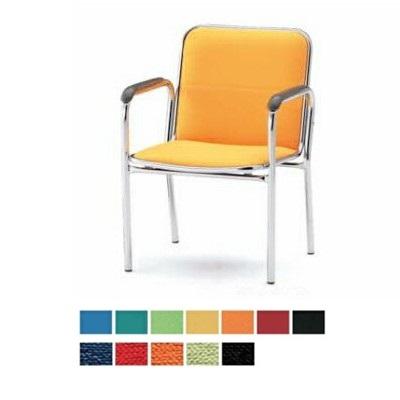 【送料無料】【4脚セット】ミーティングチェア・4本脚タイプ・肘付きオフィス家具 会議 チェア/椅子(FSBシリーズ・FSB-4A)【布製・カラー選べます】