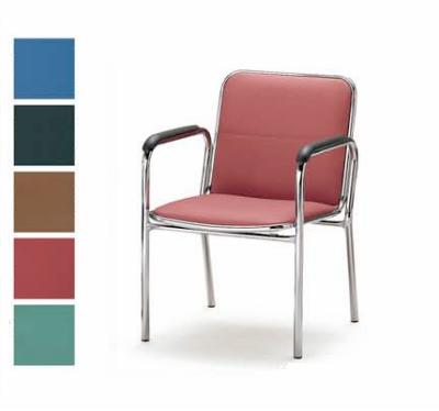 【送料無料】【4脚セット】ミーティングチェア・4本脚タイプ・肘付きオフィス家具 会議 チェア/椅子(FSBシリーズ・FSB-4AL)【ビニールレザー制・カラー選べます】