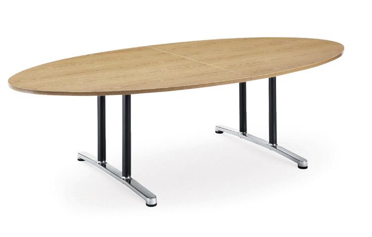 【送料無料】ミーティングテーブルWALテーブル会議テーブル【タマゴ形】(WAL-2412EM1)【カラー選べます】