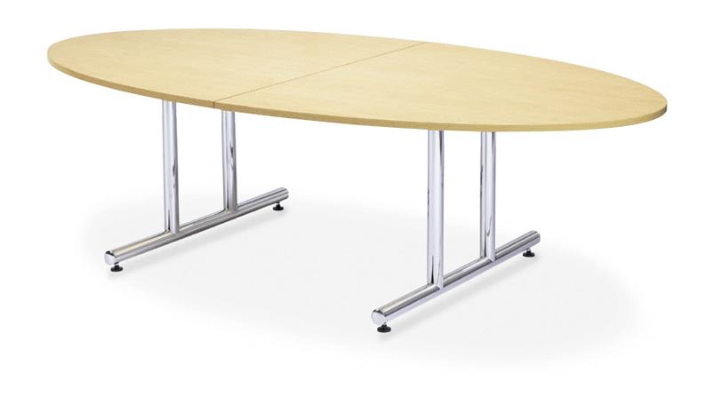 【送料無料】ミーティングテーブルWTテーブル会議テーブル【タマゴ形】(WT-2412EM1)【カラー選べます】