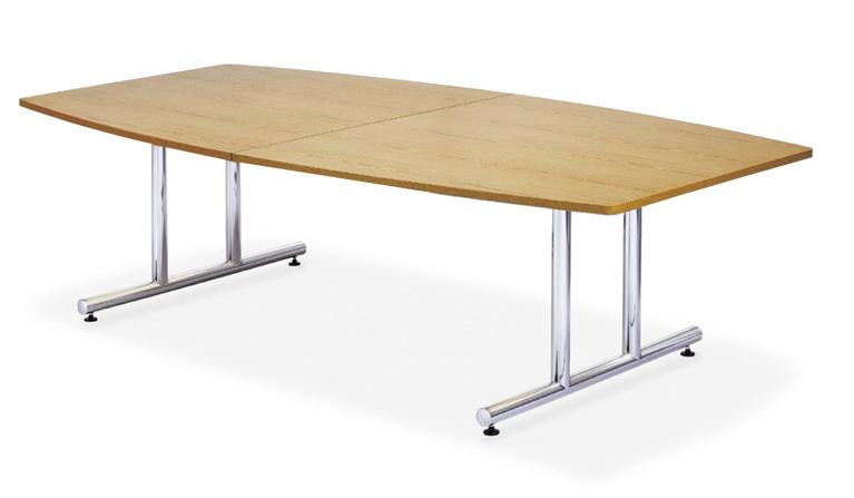 【送料無料】ミーティングテーブルWTテーブル会議テーブル【ボート形】(WT-2412BM1)【カラー選べます】