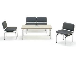 【送料無料】FUL-2L・1L応接4点セット2人掛け応接チェア1点チェア2点テーブル1点【ビニールレザー・ソファーカラー選べます】