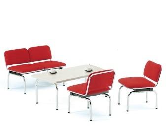 【送料無料】FUL-2・1応接4点セット2人掛け応接チェア1点チェア2点テーブル1点【布張り・ソファーカラー選べます】