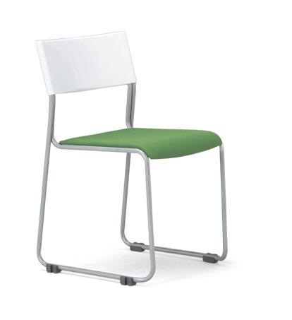 【送料無料】【4脚セット】MC-131W(F18)(VG1)スタッキングチェア粉体塗装タイプ 【素材・カラー選べます】オフィス家具 会議 チェア/椅子