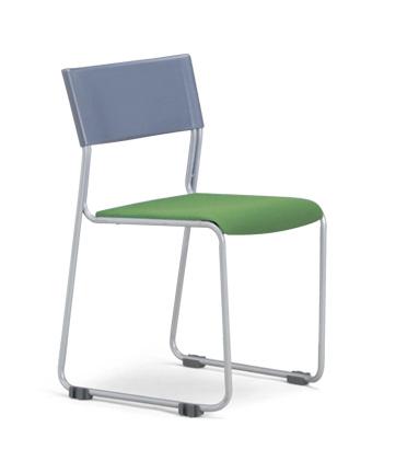 【送料無料】【4脚セット】MC-131G(F18)(VG1)スタッキングチェア粉体塗装タイプ 【素材・カラー選べます】オフィス家具 会議 チェア/椅子グレーシェル仕様