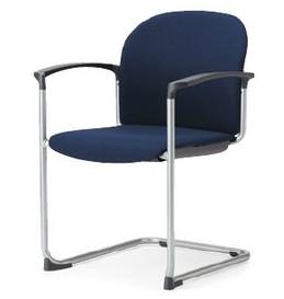【2脚セット】MC-865【送料無料】スタッキングチェア紛体塗装脚タイプ 【素材・カラー選べます】オフィス家具 会議 チェア/椅子ミーティングチェア/会議椅子