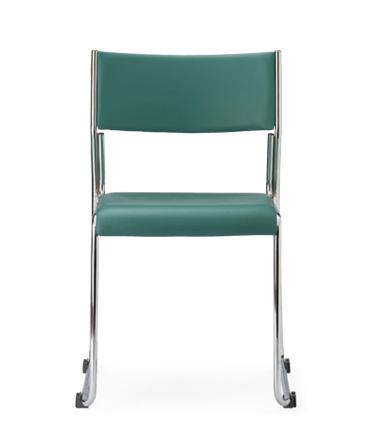 【送料無料】【4脚セット】MG-C(V3)スタッキングチェア・会議イスクロームタイプ【ビニールレザー張り・4色選択】オフィス家具 会議 チェア/椅子