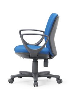 【送料無料】ローバックタイプオフィスチェア・サークル肘付き【組立品】事務椅子・ミーティングチェアチェア/椅子【メーカー品】肘付き【素材・カラー選べます】