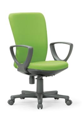 【送料無料】ミドルバックタイプオフィスチェア・サークル肘付き【組立品】事務椅子・ミーティングチェアチェア/椅子【メーカー品】肘付き【素材・カラー選べます】