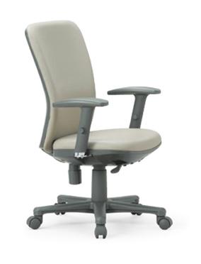 【送料無料】ミドルバックタイプオフィスチェア・可動肘付き【組立品】事務椅子・ミーティングチェアチェア/椅子【メーカー品】肘付き【素材・カラー選べます】