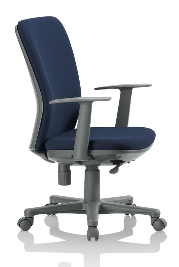 【送料無料】ミドルバックチェアオフィスチェア・T型肘付き【組立品】事務椅子・ミーティングチェアチェア/椅子【メーカー品】肘付き【素材・カラー選べます】