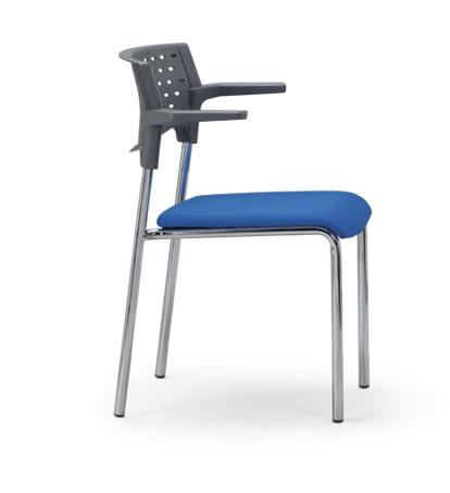 【送料無料】【4脚セット】スタッキングチェア MC-212Gクロームメッキタイプ 【素材・カラー選べます】オフィス家具 会議 チェア/椅子グレーシェル仕様