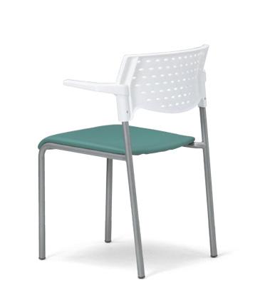 【送料無料】【4脚セット】スタッキングチェア MC-202W粉体塗装タイプ 【素材・カラー選べます】オフィス家具 会議 チェア/椅子ホワイトシェル仕様