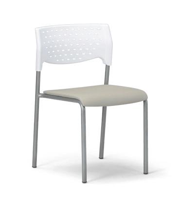 【送料無料】【4脚セット】スタッキングチェア MC-201W粉体塗装タイプ 【素材・カラー選べます】オフィス家具 会議 チェア/椅子ホワイトシェル仕様