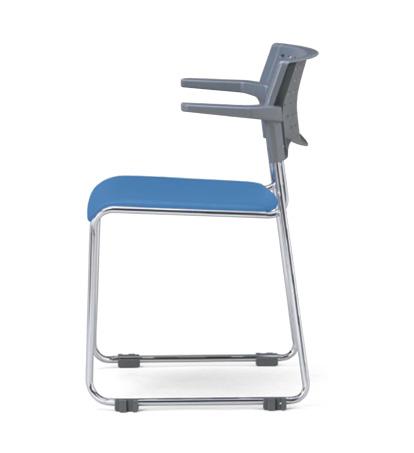【送料無料】【4脚セット】スタッキングチェア MC-112Gクロームメッキタイプ 【素材・カラー選べます】オフィス家具 会議 チェア/椅子グレーシェル仕様