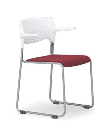 【送料無料】【4脚セット】スタッキングチェア MC-102W粉体塗装タイプ 【素材・カラー選べます】オフィス家具 会議 チェア/椅子ホワイトシェル仕様