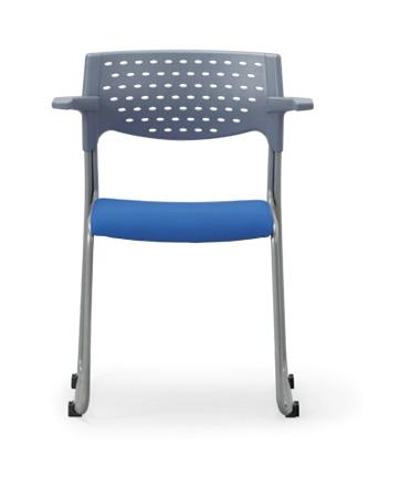 【送料無料】【4脚セット】スタッキングチェア MC-102G粉体塗装タイプ 【素材・カラー選べます】オフィス家具 会議 チェア/椅子グレーシェル仕様