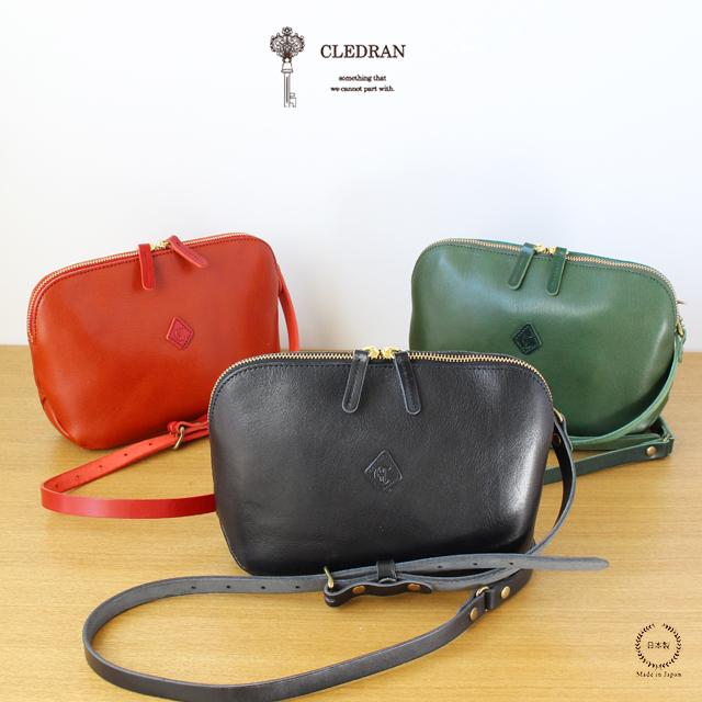 CLEDRAN (クレドラン) FLAM WALLET SHOULDER (CL2763)【送料無料 ショルダー 斜めかけ お財布 バッグ 革】