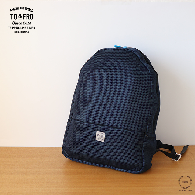 TO&FRO BACKPACK -ROUND- NAVY×BLACK【リュックサック 旅行 折りたたみ 大容量】