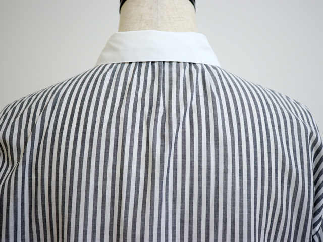 スタンプアンドダイアリー 身幅ゆったり 薄手で軽やか隠しボタンの長袖ブラウス (SD91SS13B0F07)【 日本製 洗える 40代 春 夏 秋 冬 きれいめ おしゃれ きちんと感 クレリック レディース トップス シャツ 長袖 STAMP AND DIARY】