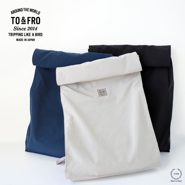TO&FRO BACKPACK SQUARE バックパック スクエア【送料無料 旅行 撥水機能付き】