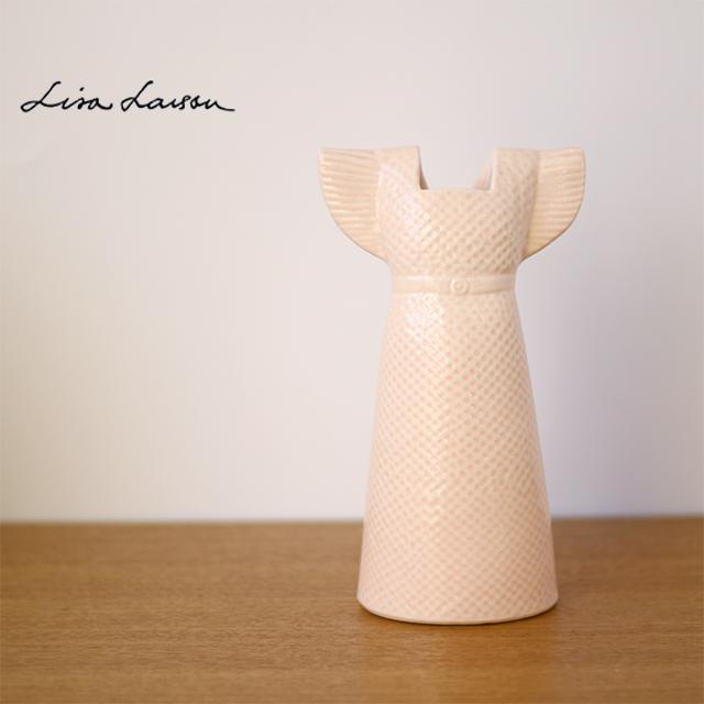 Lisa Larson(リサ・ラーソン) オブジェ ワードローブ ベースドレス 花瓶(ピンク)【フラワーベース インテリア】