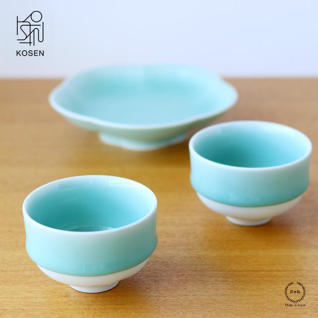 希少な天然青磁で作られた 透き通るような翡翠色が美しい煎茶碗 鍋島虎仙窯 鍋島青磁 煎茶碗( 2個入 )【 湯呑 磁器 贈り物 】
