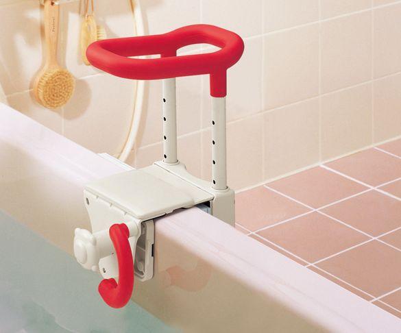 アロン化成 安寿 高さ調整付浴槽手すり UST-130 取付可能な浴槽壁厚:45~130mm [ 手すり 手摺 浴室 洗面所 浴槽 屋内手すり 立ち上がる 転倒防止 介護 介護用品 介助用品 歩行補助具 福祉用品 ]
