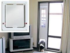 サカイペット産業 フリーペットドアDX DFM-1750 WH W220×H267mm 【メーカー直送品代引不可】[ ペットドア ペットゲート 小型犬 中型犬 猫用 ] ペット・ペットグッズ 猫用品・猫 ベッド・マット ペットドア