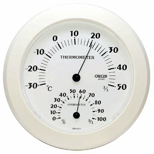 Crecer Temperature Humidity Meter White Cr 221 W The Open Air Bath Sauna Thermometer Gauge Og Diy