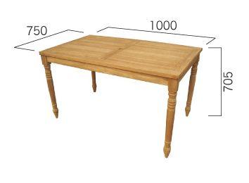送料無料 長方形天板と丸脚はテーブルの王道! コンビネーションテーブル長方形天板1007型+丸脚70  W1000×H705×D705mm[ ガーデンテーブル 木製 家具 テラス 庭 バルコニー diy 通販 ]