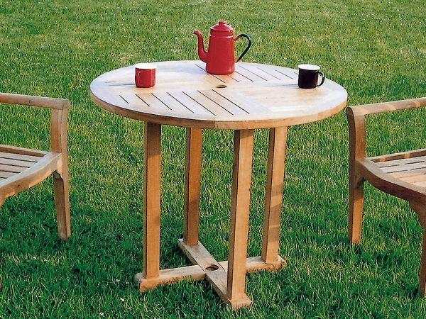 丸テーブル0909  直径900×710 [ ガーデンファニチャー ガーデンテーブル 木製 ダイニングテーブル テラス 庭 バルコニー パラソル ]