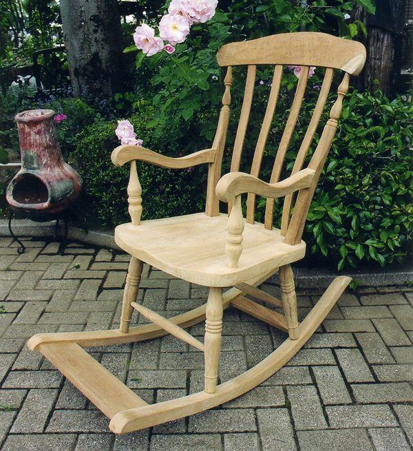 ロッキングチェア  W530×D520×H1020 [ リラックスチェア ガーデンチェア 椅子 イス テラス 庭 バルコニー 木製 通販 ]