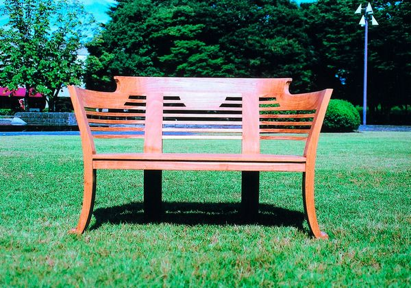 チーク ロマンティックベンチ W1310×H850 [ ガーデンファニチャー ガーデンチェア 木製 家具 椅子 イス テラス 庭 バルコニー diy 通販 ]