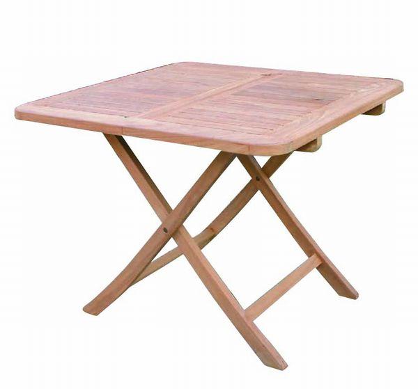 【送料無料】無塗装チークを使用したコンパクトに折り畳み収納に場所をとらない! 折り畳み 木製 高さ70 激安 ベランダ テーブル 北欧 2人 3人 収納 チーク 折り畳みスクエアテーブルB [ 無垢 テーブル 家具 チーク材 おしゃれ 折りたたみ コンパクト 木 高さ70 激安 ベランダ ナチュラル 完成品 正方形 幅90cm ] 花・ガーデン・DIY ガーデニング ガーデンファニチャー テーブル 木製