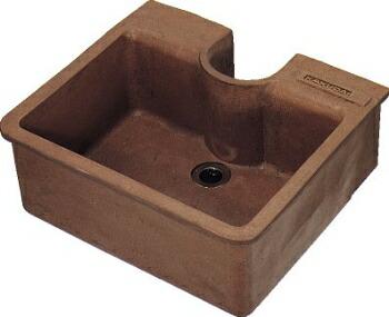 水栓柱パン(円柱用)624-901 W430×D385×H190mm[ 水道 水受け ガーデンパン 立水栓 流し 交換 エクステリア ガーデン 庭 屋外水栓 水回り ガーデニング diy ]