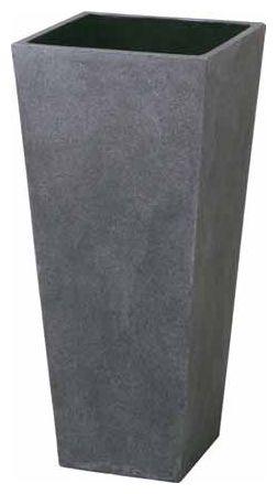ロングポット アレグロ(大)グレー W420×H900 [ ポット プランター プランターボックス 大型 おしゃれ 深型 大鉢 長方形 モダン 鉢植え プラスチック 陶器 縦長 園芸 植木鉢 スクエア 庭 ] 花・ガーデン・DIY ガーデニング プランター プランターボックス