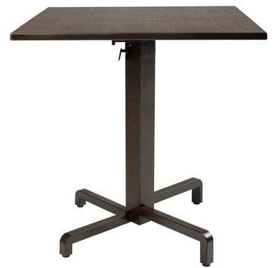 ピアニテーブル(ブラウン)NAR-T02BR  W700×H740 [ ガーデンテーブル 家具 プラスチック 庭 バルコニー テラス 屋外 diy 通販 ]