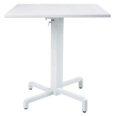 ピアニテーブル(ホワイト)NAR-T02W  W700×H740 [ ガーデンテーブル 家具 プラスチック 庭 バルコニー テラス 屋外 diy 通販 ]