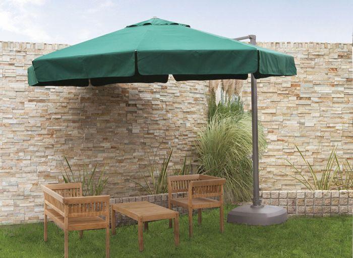 Round Side Pole Umbrellas 330 Green