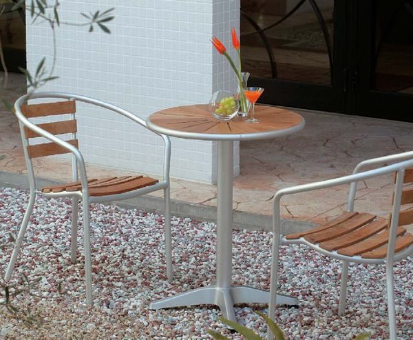 3 Point Set Table Chairs Teak コスタソーレ Cafe Tables And カフェチェアー Two Legs  [relax Chair Outdoor Garden Furniture Garden Table Wooden Folding ...