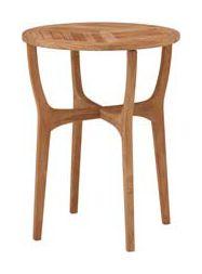 チーク ロータス テーブル60 TRD-247T  直径600×H720mm[ ガーデンファニチャー ガーデンチェア ガーデンテーブル 木製 ダイニングテーブル テラス 庭 バルコニー ]