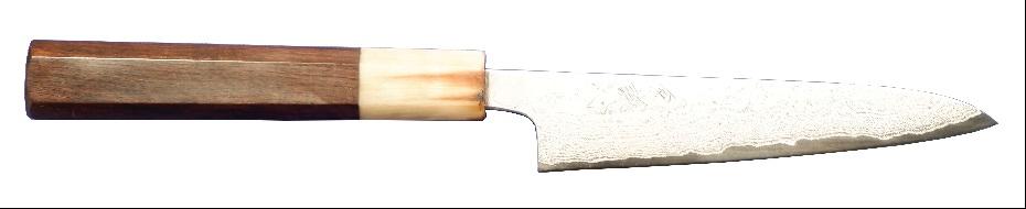 剣謙心 磨き積層ペティナイフ VG10鋼 120mm TK-DP120S-VG 120mm