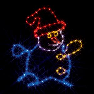※代引き不可※【LEDモチーフ 雪だるま (全点灯) 連結タイプ】 SJ-C14-N