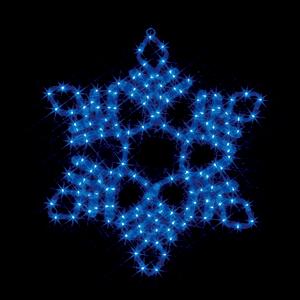※代引き不可※【LEDモチーフ 雪の結晶(中・青) (全点灯) 連結タイプ】 SJ-C102B-N