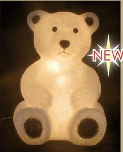 ※代引き不可※【LED クリスタルモチーフ 白クマ(大)】 STM-F18-LA